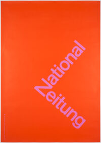 Typographic Poster by Karl Gerstner for the newspaper National-Zeitung, Basel, printed 1960, II/IV