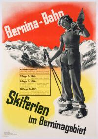 Originalplakat Bernina-Bahn, 1938 – rar!
