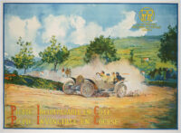 Very rare Original Swiss Automobile Poster, promoting the cars by the Genenvian manufacturer PicPic